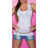 SEXY TANKTOP WHITE Onesize (UK 8,10,12)