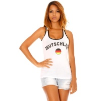 SEXY TANKTOP WITH GERMANY PRINT SOCCER WHITE/BLACK