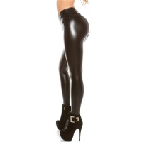 SEXY THERMO LEGGINGS IN LEATHER-LOOK  WITH WARM LINING...