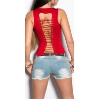 SEXY TOP WITH LACING AT THE BACK CLUBWEAR RED