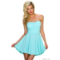 SEXY STRAPLESS A-LINE BANDEAU MINIDRESS MINT GREEN