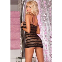 SEXY TRANSPARENT FISHNET MINIDRESS GOGO CLUBWEAR BLACK