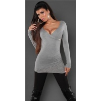 DREAMLIKE FINE-KNITTED SWEATER WITH RIVETS GREY