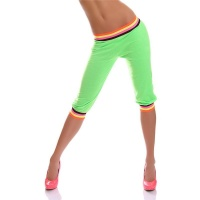 TRENDY TRACKIES SPORT PANTS CAPRI TROUSERS SPORTWEAR NEON-GREEN