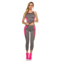 TRENDY 2 PCS SPORT SET FITNESS YOGA JOGGING...