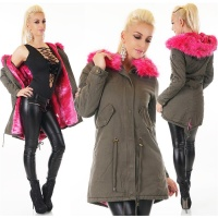 WARM LADIES PARKA COAT WINTER JACKET WITH FAKE FUR...
