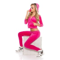TRENDY NIKKI LEISURE SUIT JOGGING SUIT WITH HOOD FUCHSIA