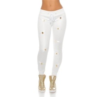 TRENDY QUILTED LADIES TRACKIES JOGGERS IN GLOSSY LOOK...