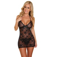 SEXY BABYDOLL NEGLIGEE MADE OF LACE INCL. THONG LINGERIE...