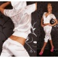 SEXY REDIAL SATIN JOGGING SUIT LEISURE SUIT WHITE
