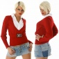 PRECIOUS TWO-IN-ONE SWEATER RED