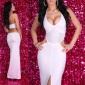 GLAMOROUS DIVA EVENING DRESS WHITE