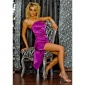 GLAMOROUS BANDEAU EVENING DRESS PURPLE