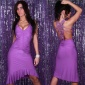 PRECIOUS LATINO-DRESS WITH RHINESTONES PURPLE