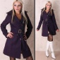 EXCLUSIVE LANA WOOL COAT PURPLE