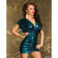 ELEGANT SHINING MINI DRESS PARTY DRESS PETROL
