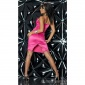 GLAMOROUS SATIN EVENING DRESS FUCHSIA