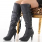 EXCLUSIVE BOOTS HIGH HEELS SHOES GREY