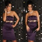 SEXY SATIN SHEATH DRESS PURPLE