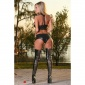 SEXY 2 PCS GOGO-SET IN WET LOOK TOP HOTPANTS CLUBWEAR BLACK