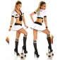 SEXY 2 PCS TRICOT-SET GERMANY CLUBWEAR WHITE/BLACK