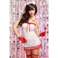 SEXY 4 PCS NAUGHTY NURSE SUIT UNIFORM OUTFIT CLUBBING WHITE/RED