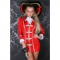 SEXY 5 PCS PIRATE COSTUME GOGO SET CLUBWEAR RED/GOLD