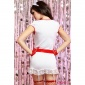 SEXY 6 PCS NAUGHTY NURSE SUIT UNIFORM OUTFIT CLUBBING WHITE/RED