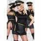SEXY 6 PCS PILOT OUTFIT GOGO SET BLACK/YELLOW