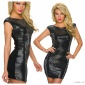 SEXY SLEEVELESS GLAMOUR MINI DRESS WITH GLITTER BLACK/SILVER
