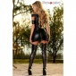 SEXY CLUB MINIKLEID MIT ZIPPER AM PO WETLOOK GOGO SCHWARZ