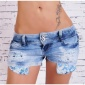 SEXY JEANS HOTPANTS DESTROYED WITH VISIBLE POCKETS BLUE