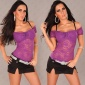 SEXY LATINA TOP MADE OF LACE PURPLE