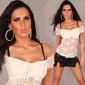 SEXY LATINA TOP MADE OF LACE WHITE