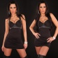 SEXY HALTERNECK MINIDRESS WITH RHINESTONES BLACK