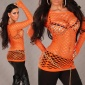 SEXY NETZ-SHIRT ORANGE GOGO