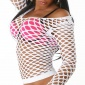 SEXY FISHNET SHIRT WHITE GOGO