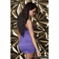 SEXY ONE-SHOULDER MINIDRESS WITH RHINESTONES PURPLE