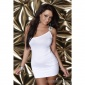 SEXY ONE-SHOULDER MINIDRESS WITH RHINESTONES WHITE