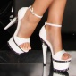 SEXY PLATFORMS HIGH HEELS GOGO WHITE