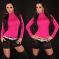 SEXY SHIRT WITH RIFTS CLUBWEAR FUCHSIA