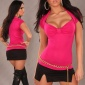 SEXY SHORT SLEEVE BOLERO-SHIRT PINK