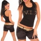 SEXY TANKTOP WITH VIP GOLD-PRINT BLACK