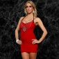 SEXY MINIDRESS PARTY DRESS WITH CHAIN RED