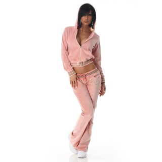 NOBLE NIKKI LEISURE SUIT JOGGING SUIT TRACKSUIT WITH HOOD PINK