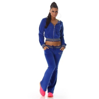 NOBLE NIKKI LEISURE SUIT JOGGING SUIT TRACKSUIT WITH HOOD ROYAL BLUE