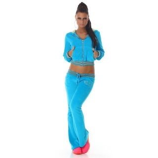 NOBLE NIKKI LEISURE SUIT JOGGING SUIT TRACKSUIT WITH HOOD TURQUOISE
