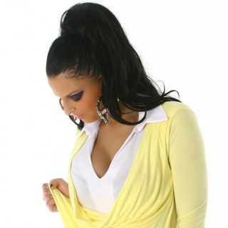PRECIOUS TWO-IN-ONE SWEATER YELLOW/WHITE