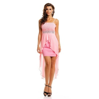 NOBLE EVENING DRESS WITH CHIFFON VEIL INCL. STOLE PINK