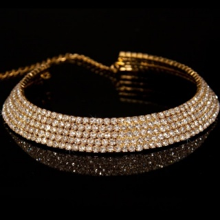 LUXURY RHINESTONE NECKLACE GOLD